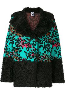 M Missoni Knitted Leopard Jacket - Preto