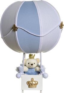 Abajur Balãozinho Ursinho Príncipe Potinho De Mel Azul