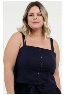 Blusa Feminina Cropped Botões Plus Size Marisa