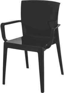 Cadeira Victoria Encosto C/Braco Cor Preto - 21837 - Sun House