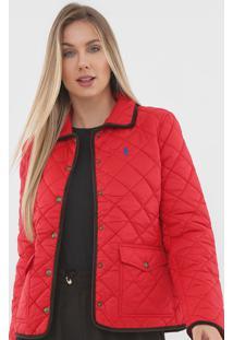 Jaqueta Polo Ralph Lauren Matelassê Vermelha