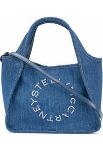 Stella Mccartney Bolsa Tote Jeans Stella Logo - Azul