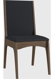 Cadeira Mdf Estofada (Envelopada) Par Marrom Móveis Canção