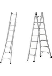 Escada Alumínio Alulev 3 Em 1 Com 7 Degraus