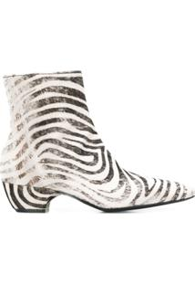 Premiata Ankle Boot Animal Print - Branco