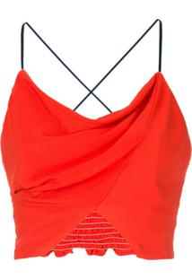 Manning Cartell Blusa Cropped - Vermelho