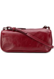 By Far Textured Mini Shoulder Bag - Vermelho