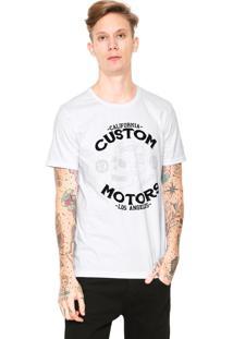 Camiseta Fiveblu Manga Curta California Branca