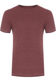 Camiseta Masculina Eco Botonê - Vinho