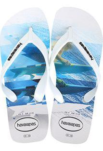 Chinelo Havaianas Surf Masculino - Masculino-Azul+Branco