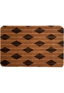 Capacho Carpet Triangulos Separados Marrom Único Love Decor