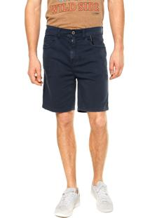 Bermuda Jeans Ellus Puída Azul Escuro
