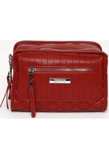 Bolsa Com Compartimentos- Vermelha- 16X23X11Cmsanta Lolla