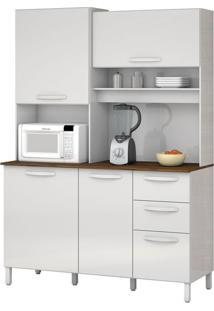 Armário De Cozinha Diamante 4 Portas Branco Vitamov