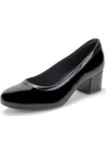 Sapato Feminino Salto Baixo Modare - 7316109 Verniz/Preto 34