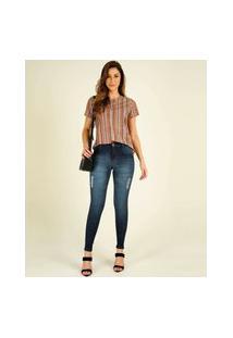Calça Jeans Puídos Skinny Feminina Biotipo