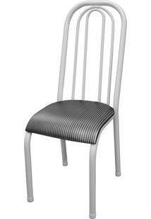 Cadeira Roma Alta Branco/Tick Listras Açomix