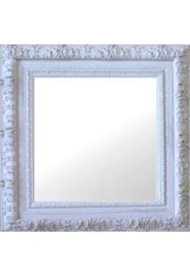 Espelho Moldura Rococó Externo 16175 Branco Patina Art Shop