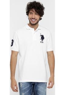 Camisa Polo U.S Polo Assn Piquet Bordado - Masculino