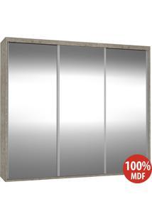Guarda Roupa 3 Portas De Espelho 100% Mdf 1987E3 Demolição - Foscarini