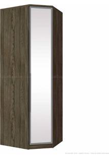 Guarda-Roupa Canto Obliquo 1 Porta Diamante M303 Com Espelho Moka - Henn