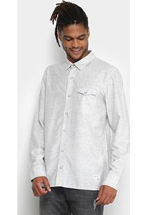 Camisa Redley Botonê Manga Longa Color Masculina - Masculino-Branco