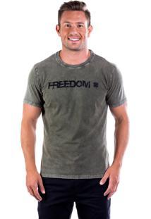 Camiseta Four Freedom Gb - Verde Musgo