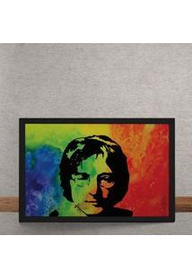 Quadro Decorativo Beatles John Lennon Aquarela 25X35