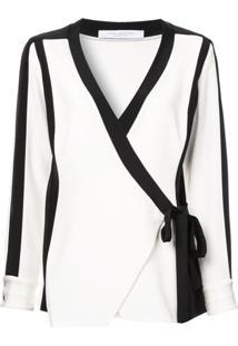 Kimora Lee Simmons Blusa De Seda Com Recortes - Branco