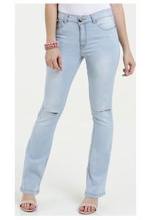 a58b14a66 ... Calça Feminina Jeans Flare Rasgos Five