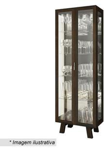 Cristaleira Com Portas- Tabaco- 182X63,4X33Cm- Ttecnomobili