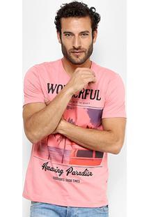 Camiseta Kohmar Wonderful Masculina - Masculino-Rosa