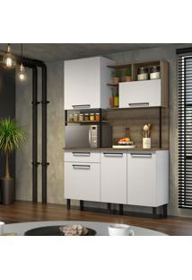 Cozinha Compacta Bali 5 Pt 1 Gv Branca