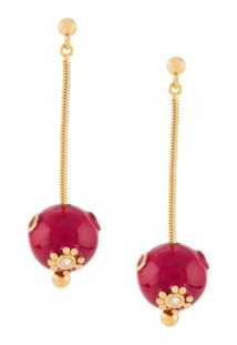 Marni Sphere-Drop Earrings - Rosa