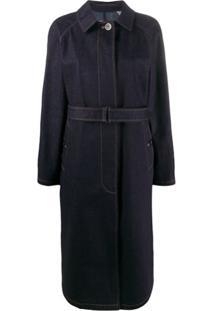Moncler Trench Coat Pistache - Azul