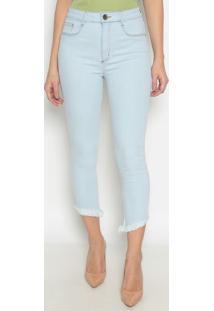 Jeans Super High Ankle Com Bolsos - Azul Claro- Lançlança Perfume