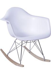 Poltrona Balanã§O Eames- Branca & Prateada- 69X63X44Cor Design