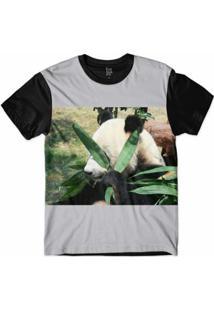 Camiseta Lf Panda Blessed Sublimada Masculina - Masculino-Cinza