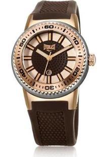 Relógio Everlast Feminino - Feminino-Marrom