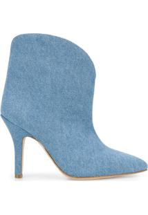 Paris Texas Ankle Boot Jeans Bico Fino - Azul