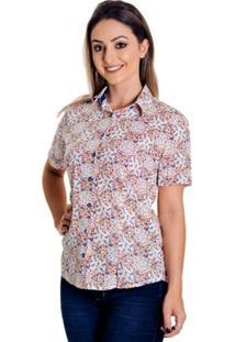 Camisa Pimenta Rosada Suellen Floral - Feminino