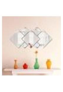 Espelho Decorativo Acrílico Sala Quarto Geometrico 7 Peças