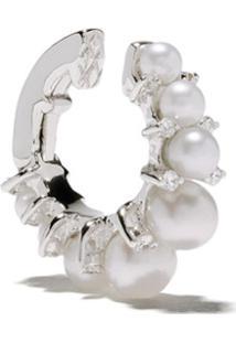 Annoushka Ear Cuff De Ouro Branco 18K Com Diamantes - 18Ct White Gold