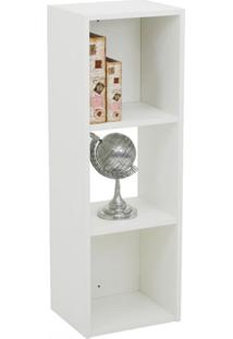 Estante Para Livros Torre 2 Prateleiras 900 Branco - Falkk