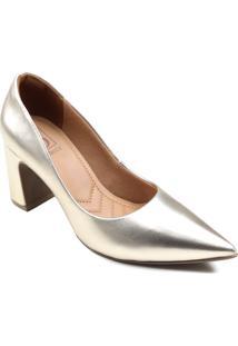 Sapato Scarpin Bebecê Metalizado