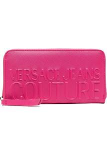 Versace Jeans Couture Carteira Com Logo Gravado - Rosa