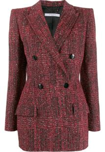 Givenchy Double-Breasted Tweed Jacket - Vermelho