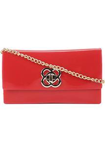 Bolsa Petite Jolie Mini Bag Lonh Wallet Feminina - Feminino-Vermelho