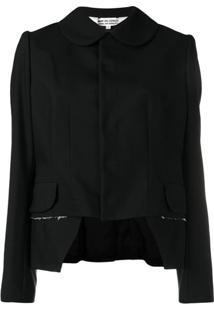 Comme Des Garçons Comme Des Garçons Cropped Fitted Jacket - Preto
