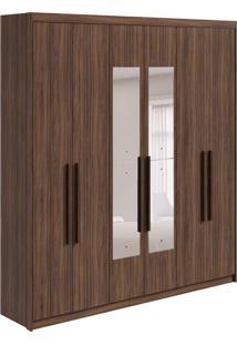 Guarda-Roupa Casal Com Espelho Libra 6 Pt 3 Gv Imbuia